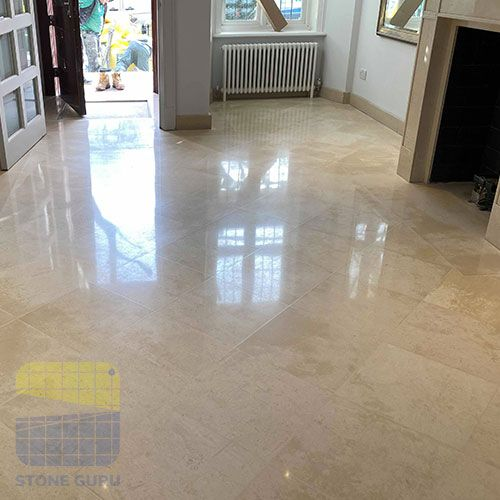 Limestone floor cleaning after results